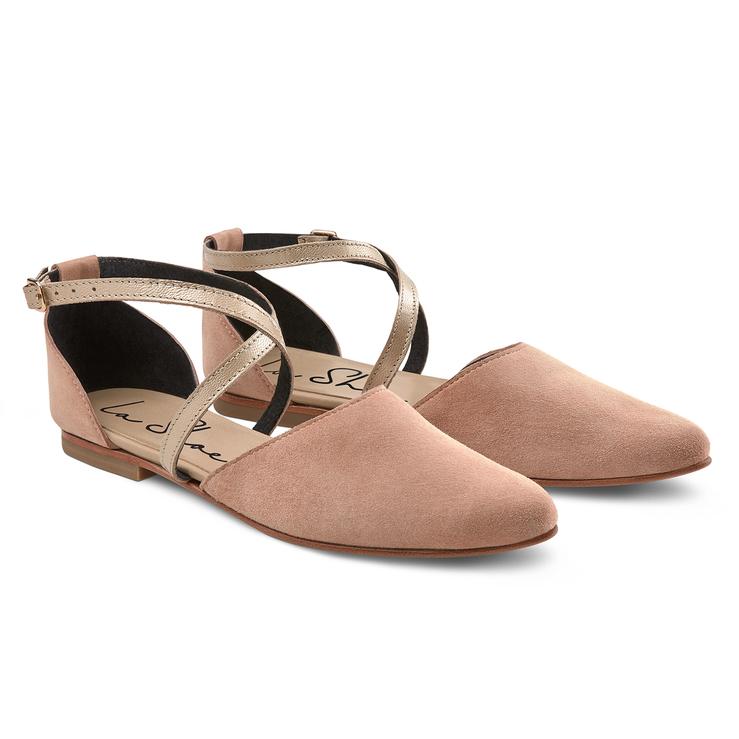 huge discount 49b74 d83e5 Riemchen-Ballerina Rosé