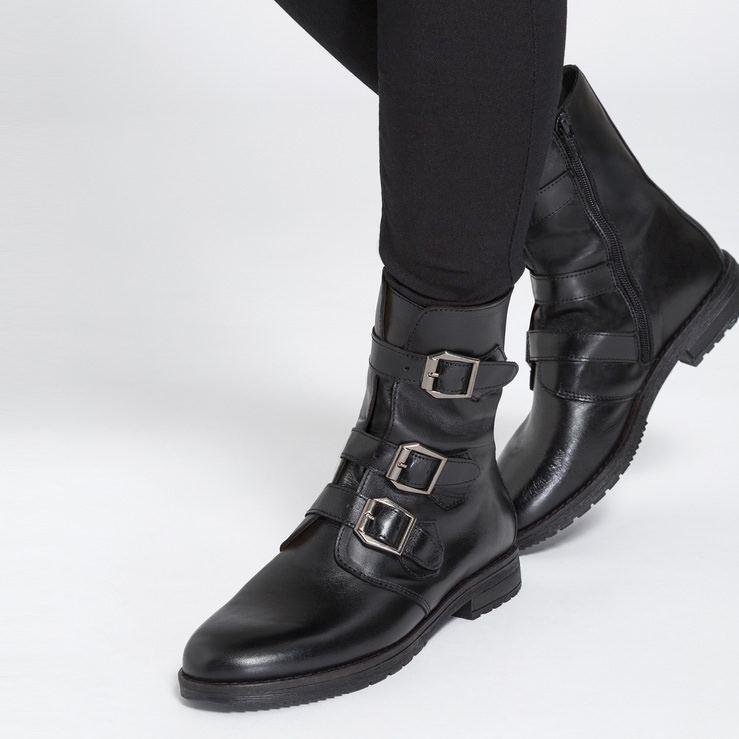 Biker-Boot Schwarz – modischer und bequemer Schuh für Hallux valgus und empfindliche  Füße von 2e8aeaa59b