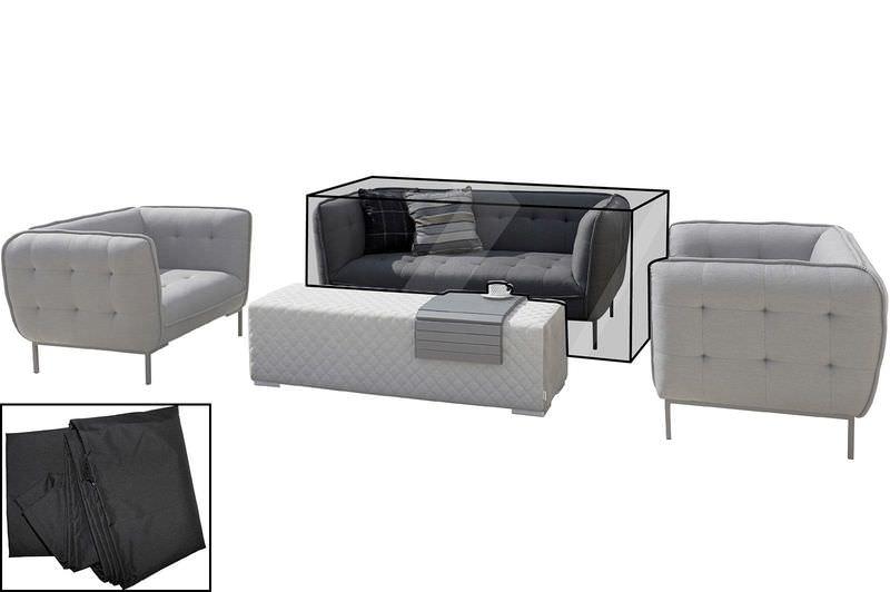 OUTFLEXX Premium Abdeckhaube, für 2-Sitzer, z.B. 18532, schwarz, 184 x 90 x 75 cm, wasserbeständig