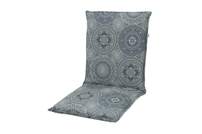 DOPPLER Lyra Stuhlauflage Niederlehner, grau gemustert, Polyester, 100 x 48 x 7 cm, mit Reißverschluss