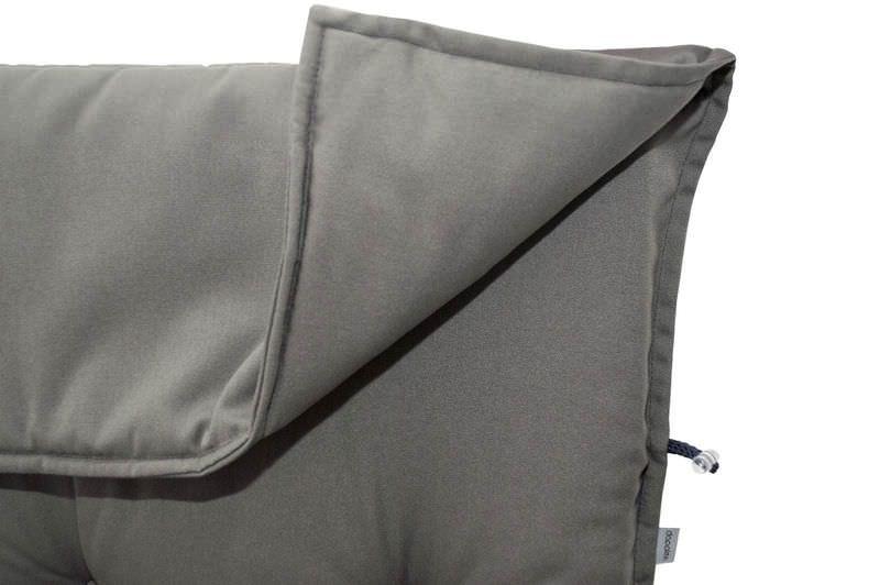 DOPPLER Stuhlauflage Hochlehner, grau, Dralon, 120x50x7cm, mit DuPont Teflon Markenimprägnierung