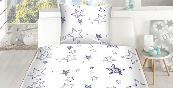 Mikrofaser Bettwäsche Stars Allover Blau Im Matratzen Concord