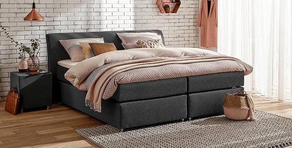 boxspringbett mio dormio casoria grey im matratzen concord. Black Bedroom Furniture Sets. Home Design Ideas