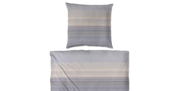 bettw sche feinbiber streifen grau gelb im matratzen concord onlineshop zu bestem preis kaufen. Black Bedroom Furniture Sets. Home Design Ideas