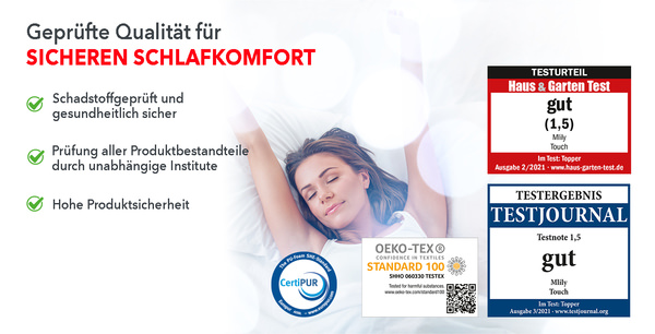 Komfortschaumtopper MLILY Touch