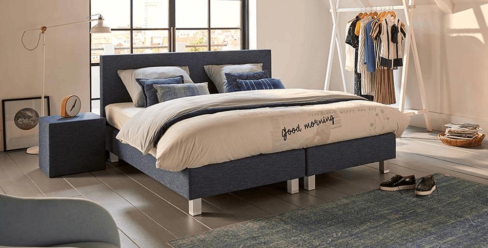 boxspringbett mio dormio arezzo bianco denim im matratzen concord onlineshop zu bestem preis. Black Bedroom Furniture Sets. Home Design Ideas