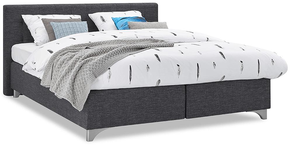 boxspringbett mio dormio firenze bianco anthrazit im. Black Bedroom Furniture Sets. Home Design Ideas
