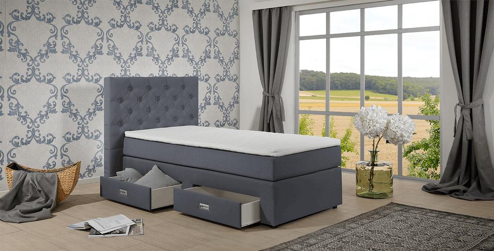 boxbett concord isabella grau im matratzen concord. Black Bedroom Furniture Sets. Home Design Ideas
