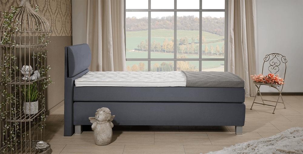 boxspringbett concord catalina grau im matratzen concord. Black Bedroom Furniture Sets. Home Design Ideas