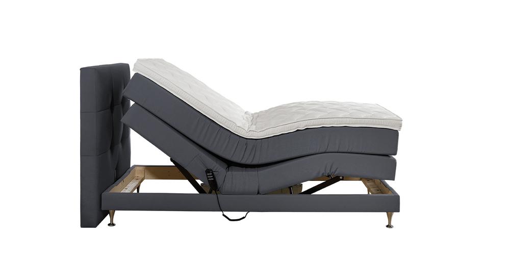 boxspringbett concord verona grau im matratzen concord. Black Bedroom Furniture Sets. Home Design Ideas