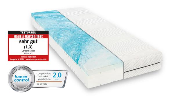 Komfortschaummatratze Concord Select Vitalis 90x200 cm H3 - fest bis 100 kg 22 cm hoch