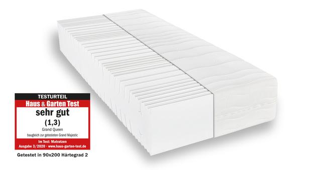 Komfortschaummatratze BeCo Grand Queen 90x190 cm H2 - mittel bis 80 kg 32 cm hoch