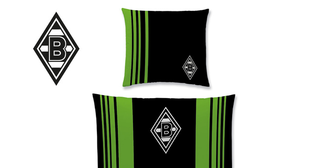 borussia m nchengladbach bundesliga bettw sche im matratzen concord onlineshop zu bestem preis. Black Bedroom Furniture Sets. Home Design Ideas