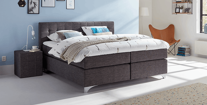 boxspringbett mio dormio vicenza anthrazit im matratzen. Black Bedroom Furniture Sets. Home Design Ideas