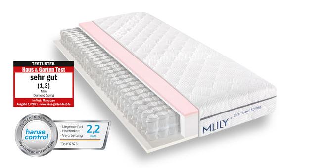 Taschenfederkernmatratze MLILY Diamond Spring 90x200 cm 22 cm hoch