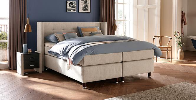 boxspringbett mio dormio ancona natural im matratzen. Black Bedroom Furniture Sets. Home Design Ideas