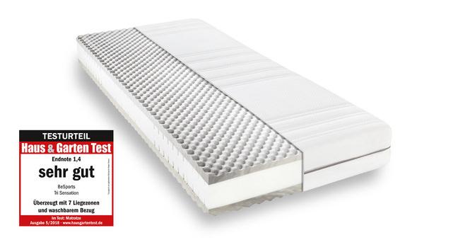 Komfortschaummatratze BeSports Tri Sensation 90x190 cm H2 - mittel bis 80 kg 22 cm hoch