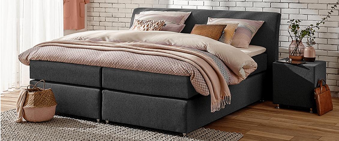 boxspringbett mio dormio carrara grey im matratzen concord onlineshop zu bestem preis kaufen. Black Bedroom Furniture Sets. Home Design Ideas