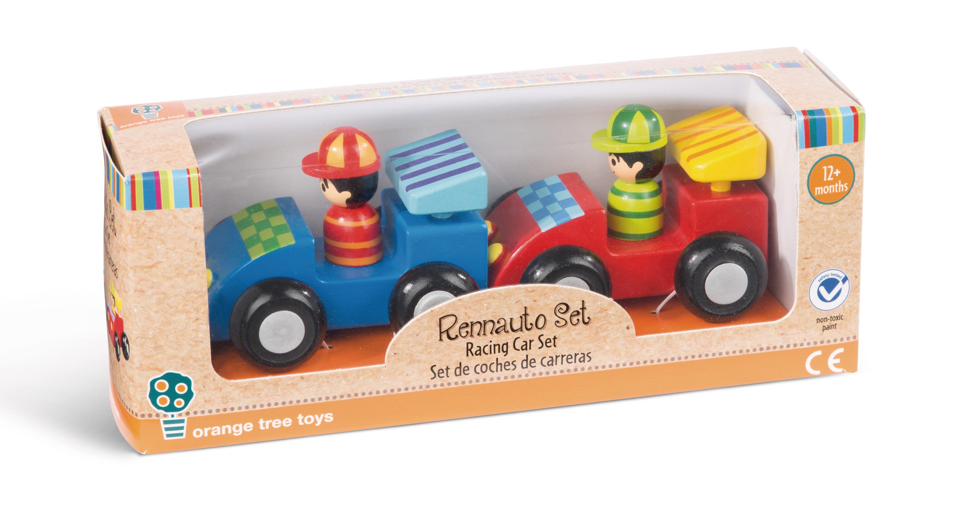 rennauto set  fahrzeuge  orange tree toys  produkte