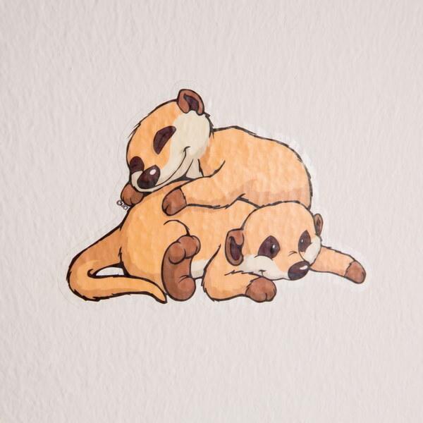 Wall tattoo set NICI Meerkat