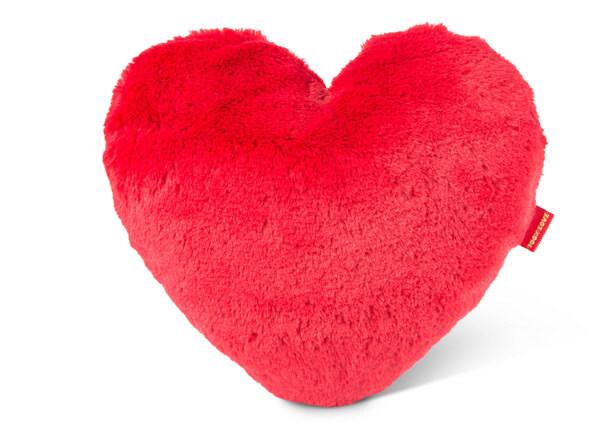 Herzförmiges Kissen Love