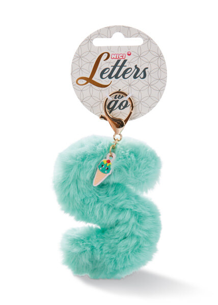 Plush bag pendant letter S with ice
