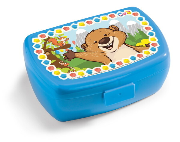 Lunch box with beaver and squirrel
