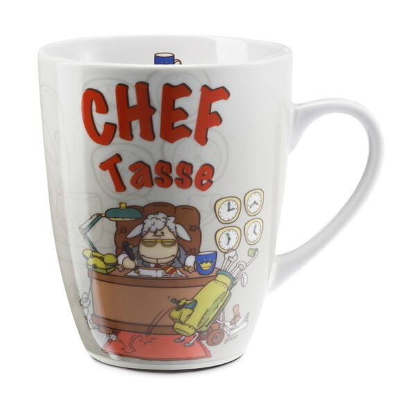 "Porzellantasse ""Chef Tasse"""