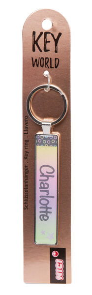 Keyring Key World 'Charlotte'