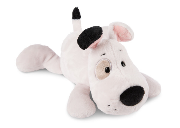Cuddly toy lying Love dog