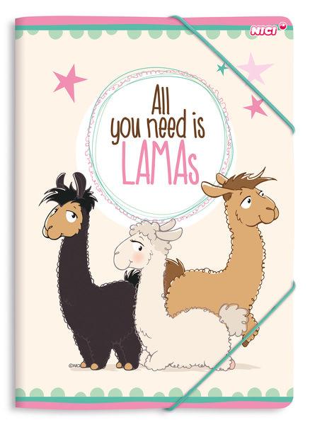 Sammelmappe DIN A4 Lamas