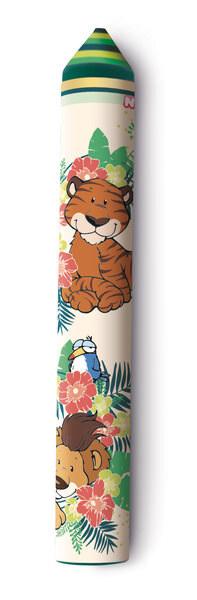 Radierstift Tiger, Löwe und Ara