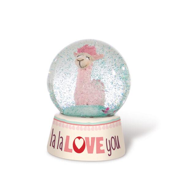"""Schüttelkugel Lama """"la la love you"""""""