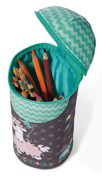 Standing pencil pouch Cuddly toy Llama-Babies