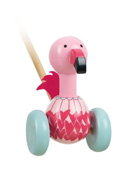 Push Along Flamingo