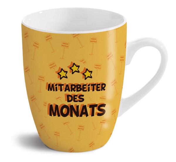 """Porzellantasse Schaf """"Mitarbeiter des Monats"""""""