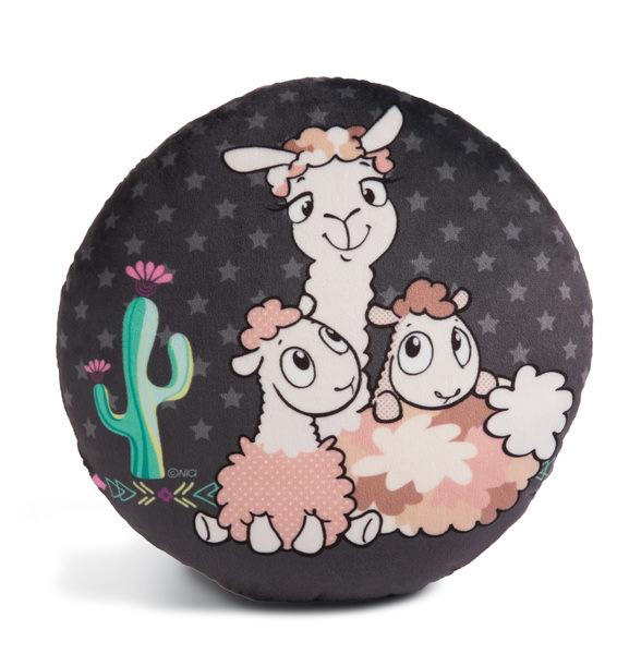 Round cushion Llama-Babies