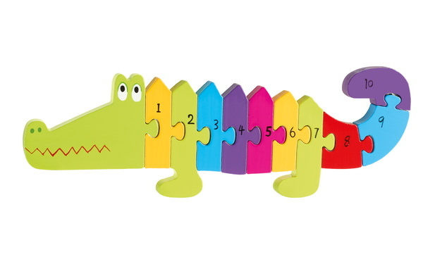 Number puzzle Crocodile