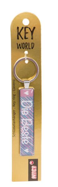 Schlüsselanhänger Key World 'Die Beste'