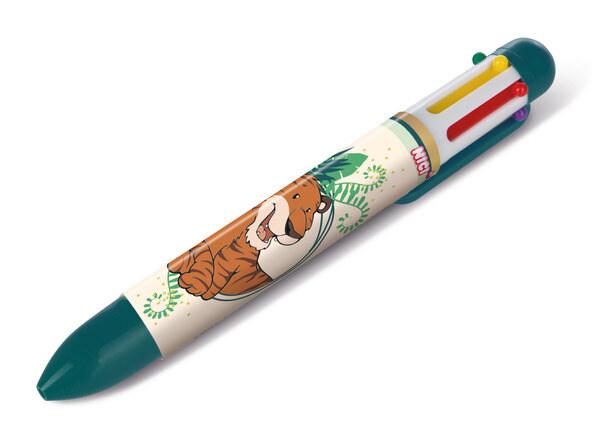Mehrfarbiger Kugelschreiber Tiger Balikou