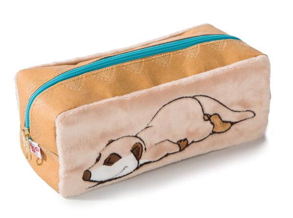 Pencil case NICI Meerkat with vegan leather