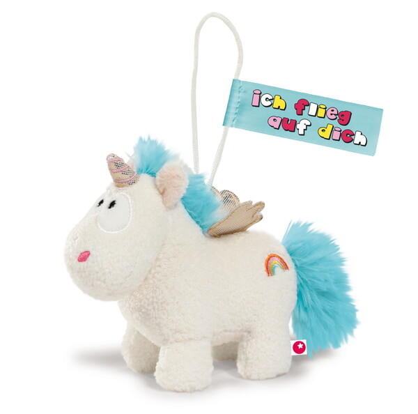 Anhänger Theodor and Friends Einhorn Rainbow Flair mit Schlaufe