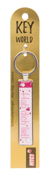 Keyring Key World 'Hab dich lieb'