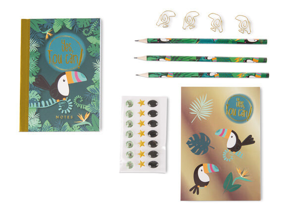 30 piece stationery set Toucan