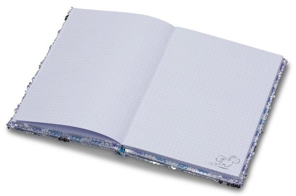 DIN A5 Notizbuch mit Pailletten Theodor und seine Freunde