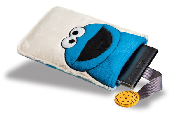 Smartphone sleeve Sesame Street with Cookie Monster
