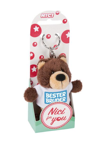 Keyring bear 'Bester Bruder'