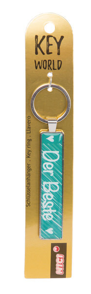 Keyring Key World 'Der Beste'