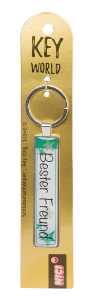Keyring Key World 'Bester Freund'