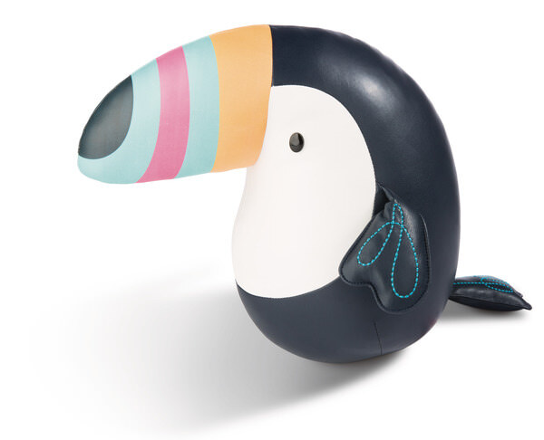 Bookend toucan made of imitation leather